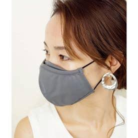 洗って使える接触冷感マチ付きマスク【返品不可商品】 (チャコール(1枚入り))