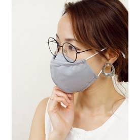洗って使える接触冷感マチ付きマスク【返品不可商品】 (グレー(1枚入り))