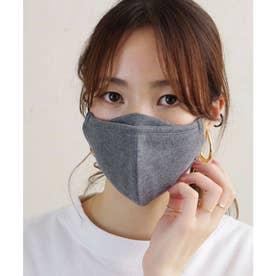 【眼鏡が曇りにくいマスク】ナチュラルコットンマチ付き立体布マスク【お洗濯可能】 ECO 男女兼用 【返品不可商品】 (グレー(11))