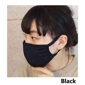 洗える立体布マスク男女兼用ファッションマスクECOMASK接触冷感 【返品不可商品】 (ブラック(02))