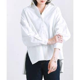 ボリューム袖オーバーサイズツイルシャツ al AW (オフホワイト(06))