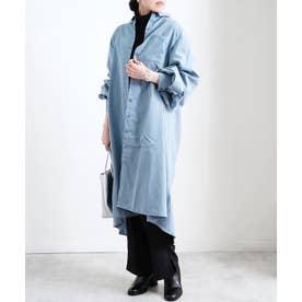 ピーチ起毛ボリュームタックシャツ SS (アイスブルー(66))