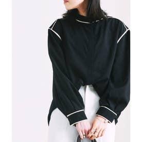 スパンブロードパイピングシャツ (ブラック(02))