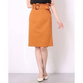 ミーア アウトレット ツイルバックフリルタイトスカート (オレンジ)