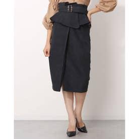 ミーア アウトレット コルセットベルト付きタイトスカート (ブラック)