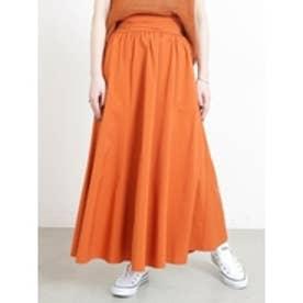 タフタスカート オレンジ