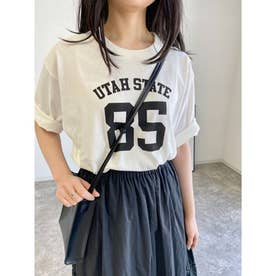 ナンバリングTシャツ (オフホワイト/クロ)