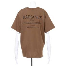 BACKロゴTシャツ (モカ/ブラウン)