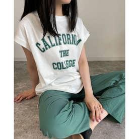 フレンチスリーブロゴTシャツ (オフホワイト)