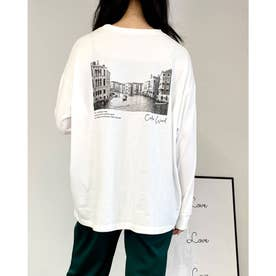 BACKフォトロングTシャツ/B (オフホワイト)