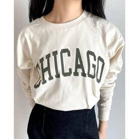 カレッジロゴロングTシャツ(オフホワイト)
