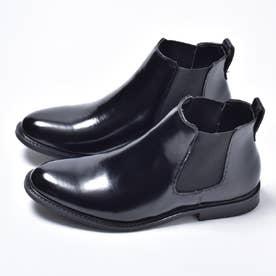 サイドゴアプレーントゥビジネスブーツ (ブラック)