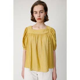 SQUARE NECK H/S BLOUSE (イエロー)
