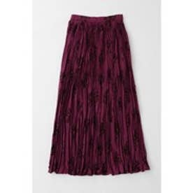 BRUSHED ROSE PLEATS SKIRT (パープル)