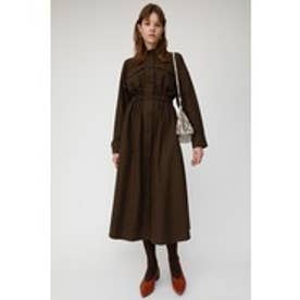 LONG SHIRT DRESS (ダークブラウン)