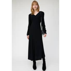 PUFF SHOULDER LONG DRESS (ブラック)