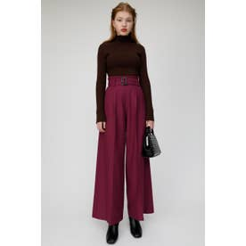 BELTED WIDE PANTS (パープル)