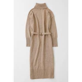 HIGH NECK ニット ドレス L/BEG1