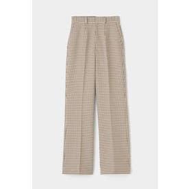 HIGH WAIST FLARE PANTS (柄ホワイト)
