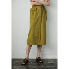 BELTED WORK SKIRT (カーキ)