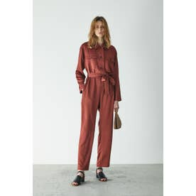 BUTTON UP JUMP SUIT (ダークオレンジ)