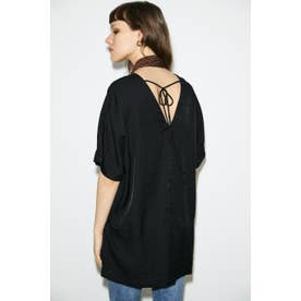 BACK OPEN LOOSE トップス BLK
