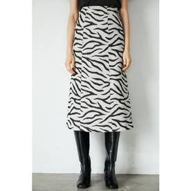 ANIMAL JACQUARD SKIRT (ブラック)