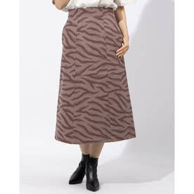 ANIMAL JACQUARD SKIRT (ブラウン)