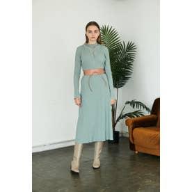HENLEY NECK ドレス L/GRN1