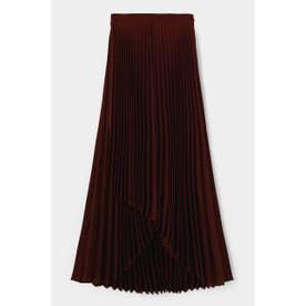 ASYMMETRY PLEATS スカート D/BRN3