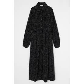TINY DOT LONG SHIRT ドレス BLK