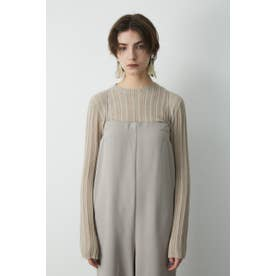 SHEER KNIT トップス L/GRY1