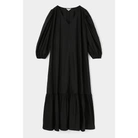 VOLUME SLEEVE LONG ドレス BLK