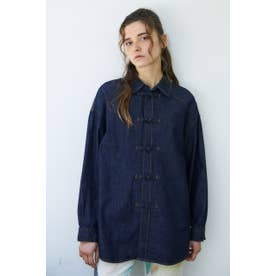 CHINA BUTTON DENIM シャツ One Wash1