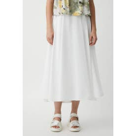 BELTED FLARE スカート WHT