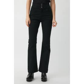 HW STRETCH OXFORD FLARE BLK