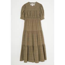 TUCKED SLEEVE TIERED ドレス L/KHA1