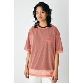OVER SIZED SEE TROUGH Tシャツ PNK
