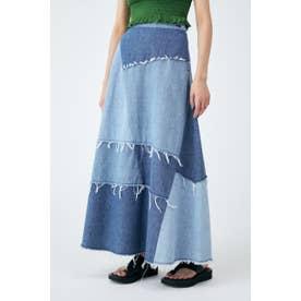 PANEL LONG FLARE スカート BLU