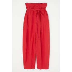 HIGH WAIST COCOON パンツ RED