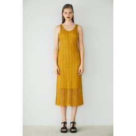 CROCHET LIKE LONG ドレス YEL
