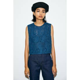 CHEMICAL LACE トップス BLU