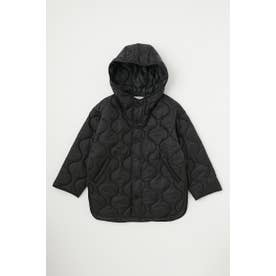 HOODED QUILTED ポンチョ BLK