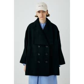 BIG COLLAR PONCHO コート BLK