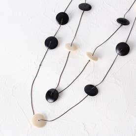 ウッドプレートネックレス (ブラック)