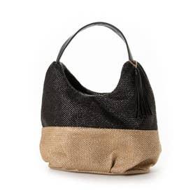 バイカラーサマーバッグ Sサイズ (ブラック)