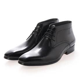 上質なレザーを贅沢に使用したビジネスチャッカブーツ DM7276 (ブラック)