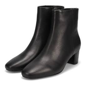 足型にぴったりフィットする ソフトレザーショートブーツ DML4512 (ブラック)