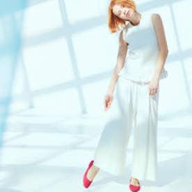 モード エ ジャコモ ファウンテンブルー 【スニプス】ラウンドスクエアトゥパンプス (ピンクスエード)