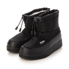 防水防滑ブーツ 軽量スノーブーツ (BLACK)